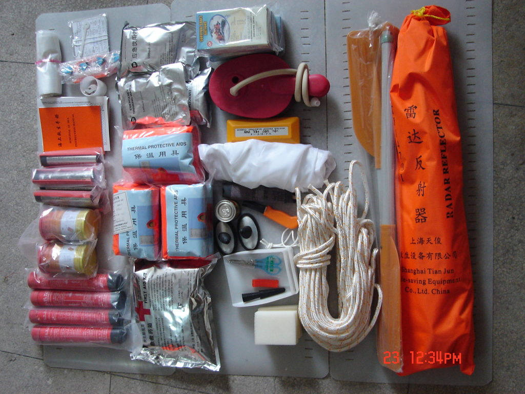 seaman safety life raft emergency pack
